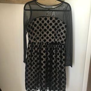 Sunday in Brooklyn Velvet polka dot dress